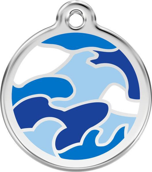 Psí známka Red Dingo: modrá camouflage
