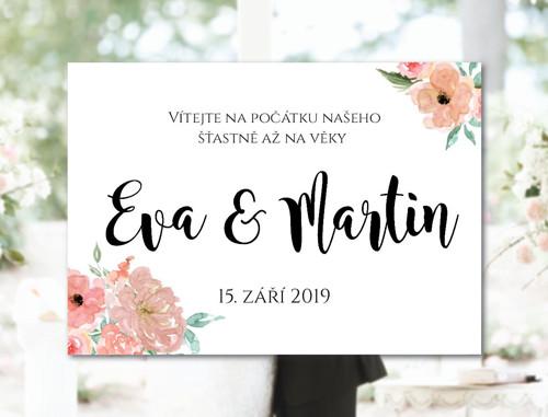 Svatební cedule Vítejte 02