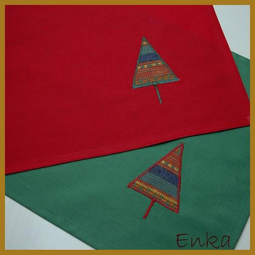 Vánoční prostírka - červená