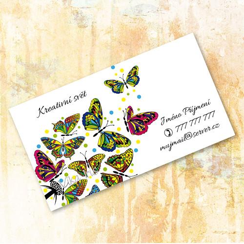 Motýli na pampelišce 1 - vizitky 200 ks
