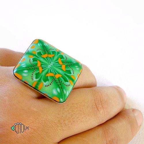 Koso Čtyřlístek - fimo prsten