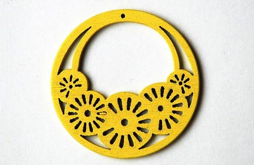 dřevěná kolečka- žluté