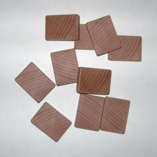 Dřevěné kostky na hraní 4x3x1