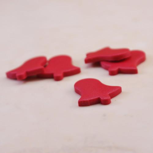 Červené mini ozdobičky zvonečky 5 ks/1 ks/10 ks