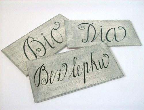 Cedulka s textem na přání 22 x 11 cm