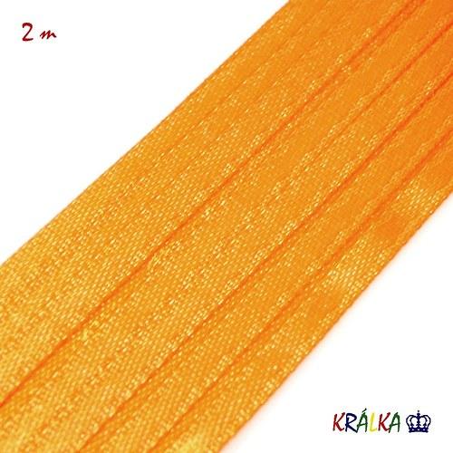 Atlasová stuha 3 mm pomerančová