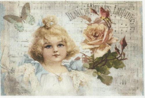 bavlněná látka - panel 8,5 x 13 cm