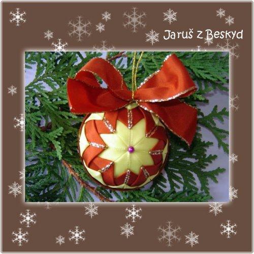 Vánoční koule (žlutá a měděná)
