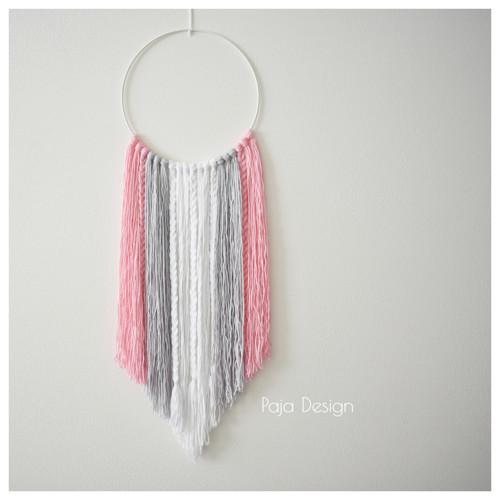 Lapač snů minimalist - kruh růžový