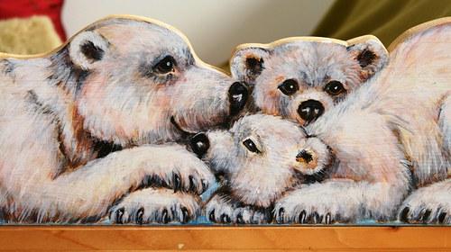 Medvídci, zábrana na postel nebo věšák