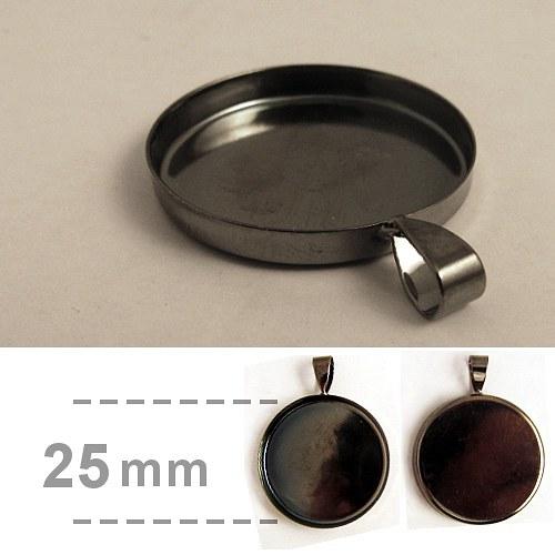 Hluboké lůžko kruhové (25mm) - gunmetal