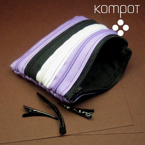 TAŠTIČKA - fialová, bílá, černá