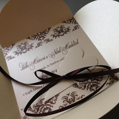 Svatební oznámení  -CHOCCO DAMASK