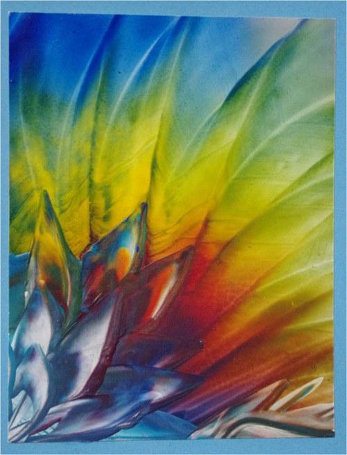 Přáníčko - duhová květina