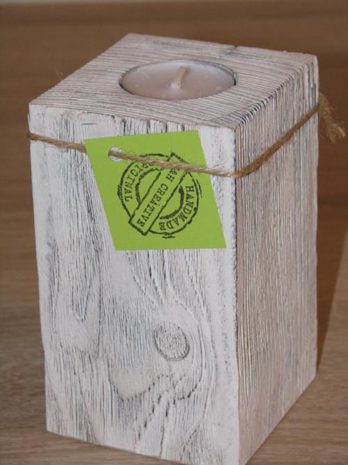 1 dílný svícen Provance bílý 13 cm - 1 ks