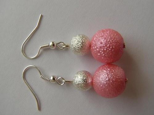 naušnice perla s křišťálovou kuličkou