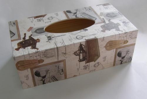 SKLADEM - krabice na papírové kapesníky - A.Edison