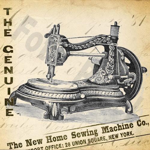 Vintage motiv - šicí stroj 3