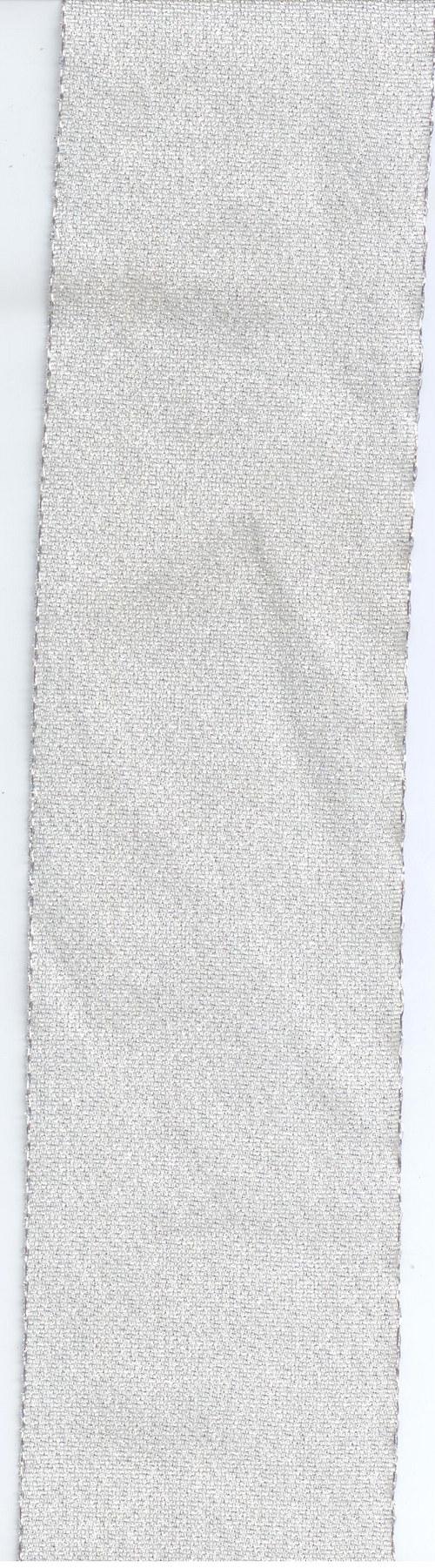Stuha látková stříbrná lesklá