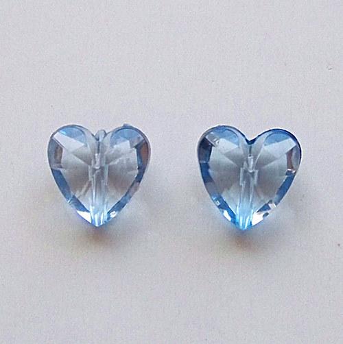 akrylové  srdíčko/ modré/ 12mm/ 4ks