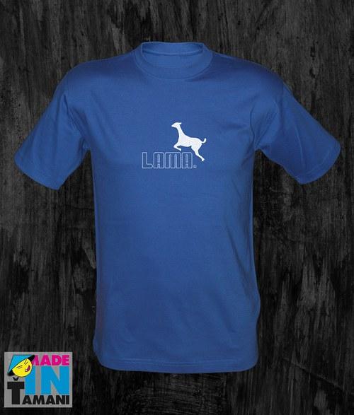 Pánské modré royal tričko s Lamou 05