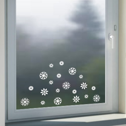Sněhové vločky na okno 20ks