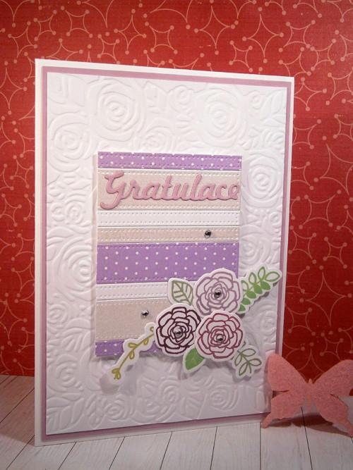Přání - gratulace v lila barvách