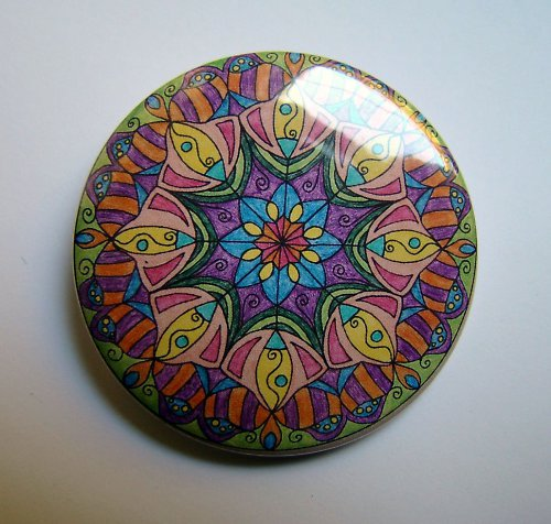 MANDALA 3 - placka - button - 44 mm