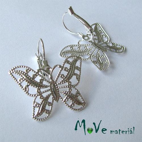 Náušnicové zapínání filigrán  motýl, 1pár