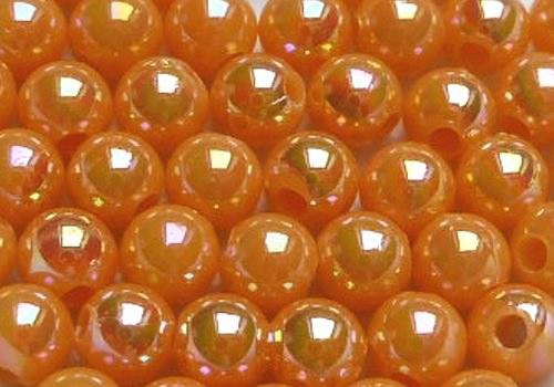 Plastové kuličky duhové 4 mm - meruňková / 20 ks