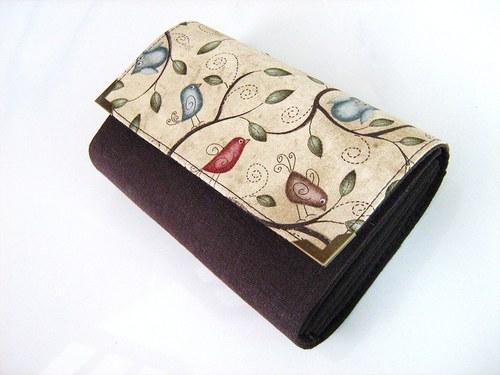 Pípání a houkání peněženka v tmavší kombinaci  :-)