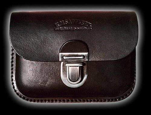 Kožená taška černá