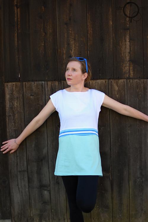 Kombinované pastelové triko, vel. XL