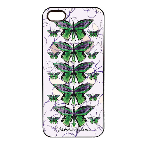 MOTYL VE FIALOVE - IPhone 5 Obal