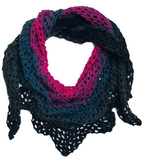 f8fdd3a726c Duhový háčkovaný šátek   Zboží prodejce Handmade by MF