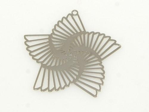 Přívěsek měděný hvězda stříbrná 34mm