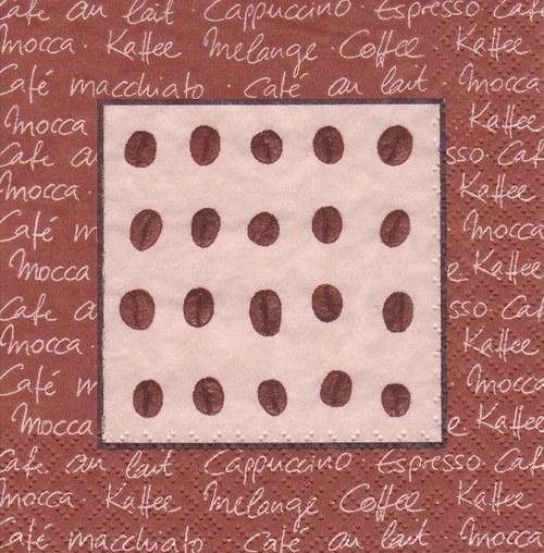 Ubrousek - kávová zrna
