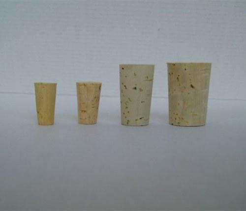 Korková zátka - špunt konický cena za 5 ks