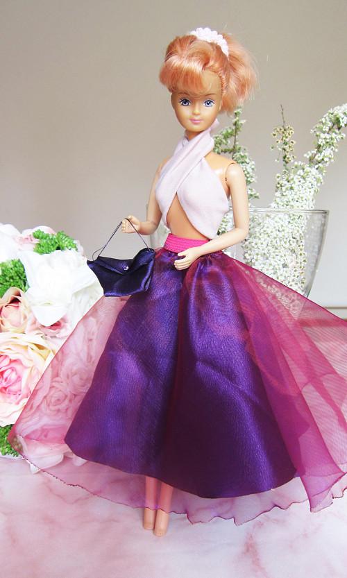 Barbie fialová sukně