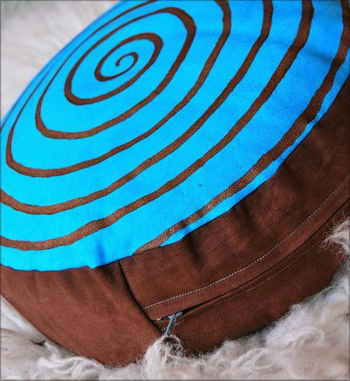 """Meditační polštář \""""Modrá spirála\"""""""