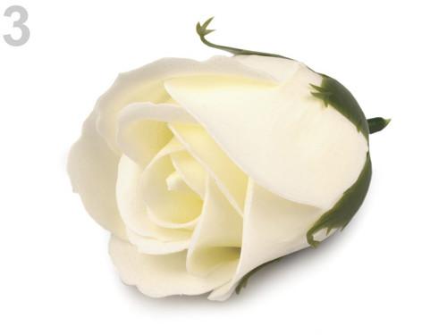 Vonný květ růže 45x65 mm (3ks) - žlutá nejsv.