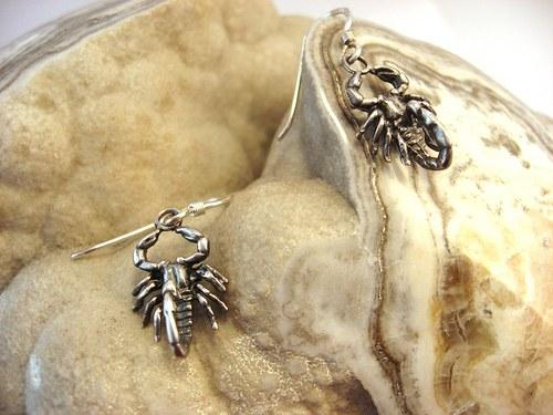 Silver scorpions - náušnice starostříbrné.