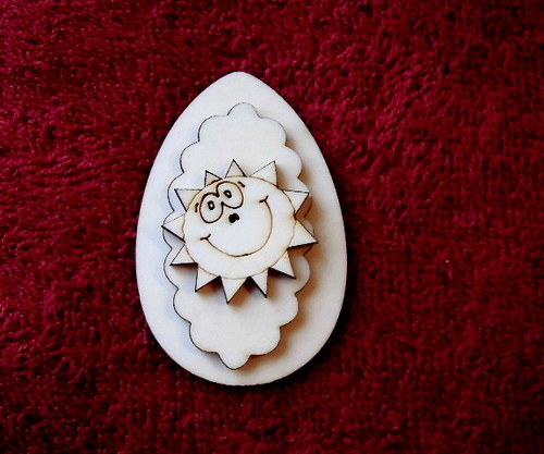 3D zápich na špejli vejce+sluníčko -3ks