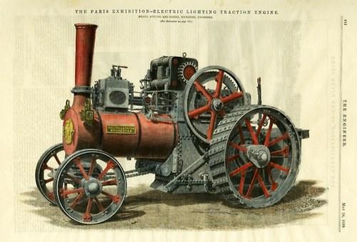 Parní traktor 1889