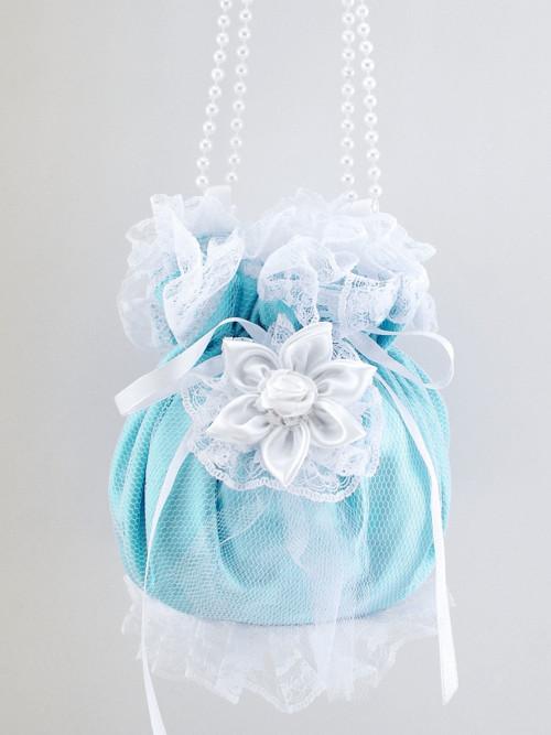 Pomparůrka tyrkysová , kabelka  pro nevěstu RR2