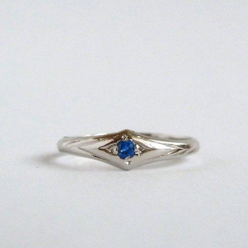 Spinelový (prsten z bílého zlata)
