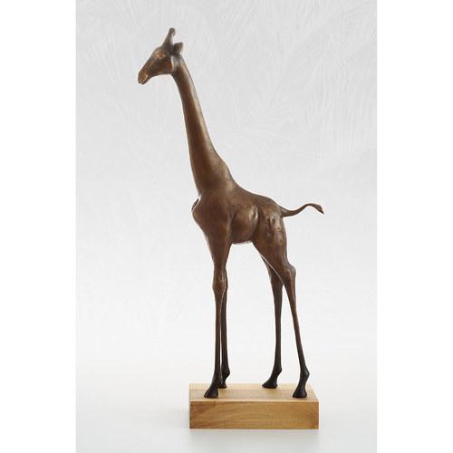 Žirafa - bronzová socha - originál