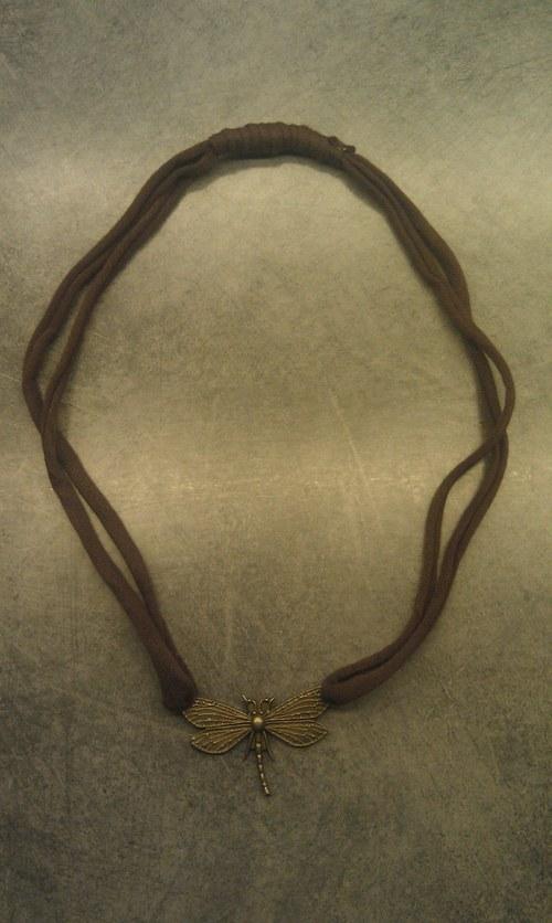 Vážná vážka - náhrdelník