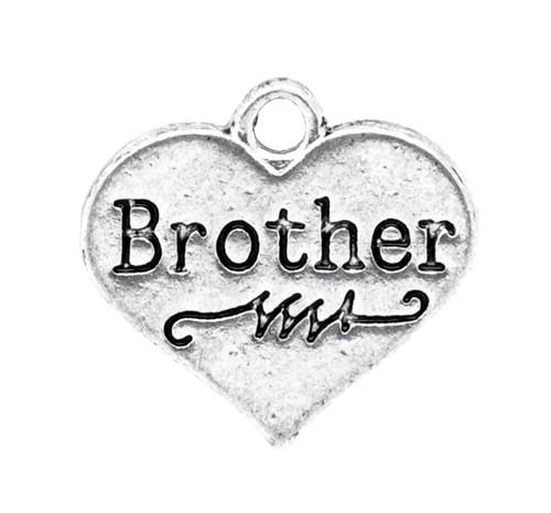 SPE5390, PRÍVESOK Srdce Brother StaroSTRIEBRO /1ks