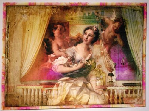 bavlněná látka - panel 22 x 29 cm
